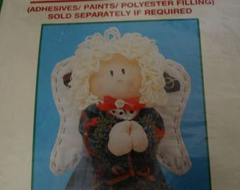 Homespun Creations, Angel Craft Pattern, Table Angel Cone, Folk Art Angel, Easy to Assemble, Instructions included, Craft Kit