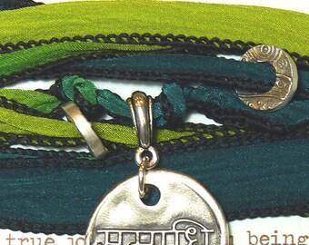 Sanskrit Samadhi Concsiousness Silk Bracelet