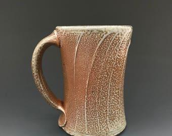 Coffee Mug - Soda Glazed Stoneware - Swipe Decoration - Ron Philbeck (SW5)