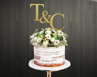 Monogram Cake Topper for Wedding / Cake Topper Monogram / Monograms Cake Topper / Cake Topper Monograms / Wedding Cake Toppers /Cake Toppers