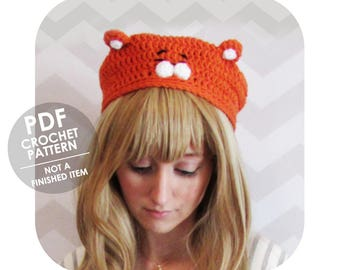crochet pattern - himouto umaru chan - anime inspired hamster slouchy beret - anime hat - halloween costume cosplay - umaru chan hamster