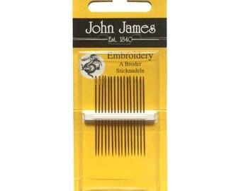 John James Embroidery Needles, Size 7