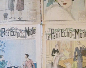 Illustrated weekly, Le Petit Echo De La Mode, French Magazine, French Ephemera, Fashion Magazine, Vintage Weekly Magazine, Fashion Cover Art
