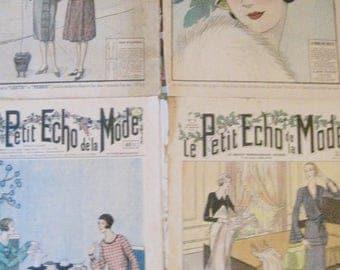 Illustrated weekly, Le Petit Echo De La Mode, French Magazine, French Ephemera, Fashion Magazine, Vintage Weekly Magazine, Fashion Cover Art