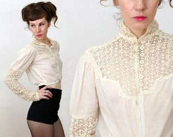 SALE Antique Lace Top 1900s