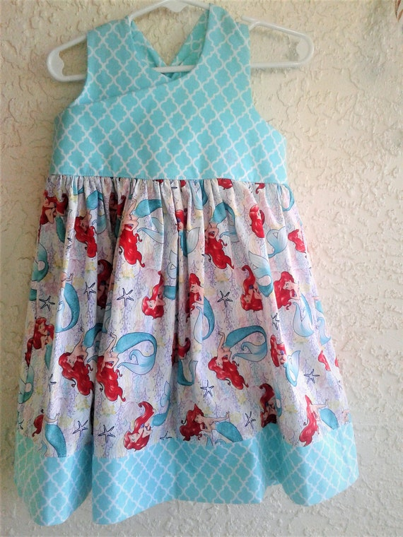 Ariel,Little Mermaid Dress, Disney Princess dress, Baby Princess Dress, Birthday Dress, Disney Vacation dress, Ariel Sundress