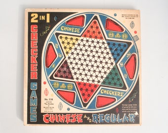 Vintage Chinese Checkers game - Ohio Art - in original box