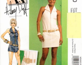 McCall's UNCUT Hilary Duff Pattern M5660 - Misses Halter-Style Dress & Jumpsuit with Fitted Bodice