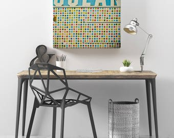 Typography Art, Retro Wall Art, Colorful Decor, Multicolor, Blue and White Decor - Ocean