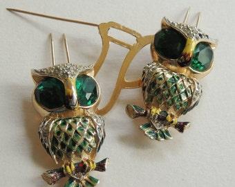 CORO Duette & Attachment Plate OWL fur Clips/Brooch