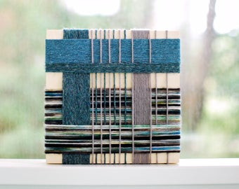 Yarn Wrapped Wall Art #8 // Textile Art // Tapestry // Yarn Wrapped Decor