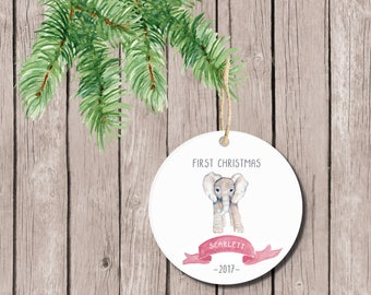 Baby's First Christmas Ornament, Christmas Ornament Baby's First, Ornament Baby's First, Baby's First Christmas Ornament, Personalized, Girl