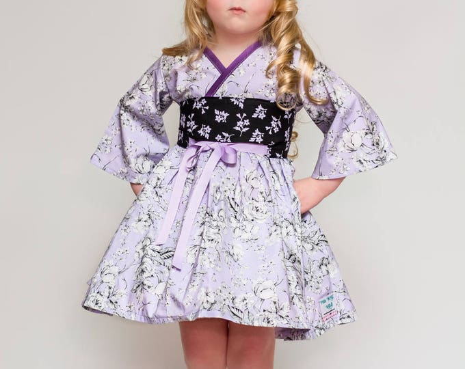 Purple Dress - Birthday Party Dress - Tea Party - Little Girls Dress - Twirl Dress - Twirly Dress - Toddler - Preteen Dress - 2t to 14 yrs