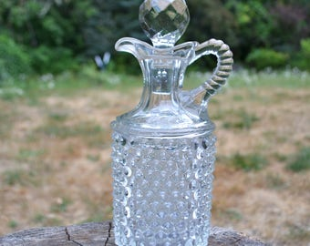 Vintage Glass Decanter with Stopper