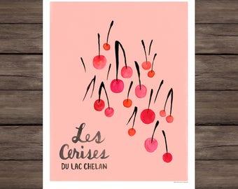 Les Cerises Du Lac Chelan print