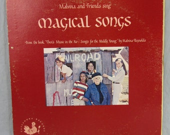 "Malvina Reynolds and Friends Sing Magical Songs Record Vintage 12"" Vinyl LP Album 1978 Cassandra Records CR 040"