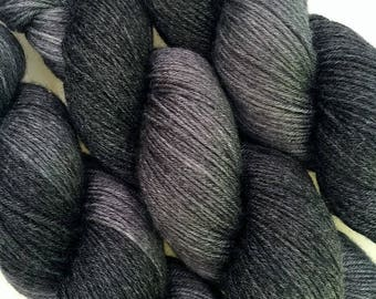 Merino Bamboo Sock Yarn 100 Grams 'Charcoal' Colourway