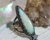 Cultured Opal in Sterling Ring Size 6.5