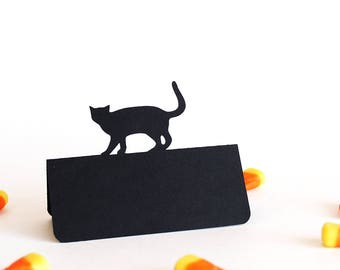Cat Place Cards, Halloween place cards, Wedding place cards, Wedding escort cards