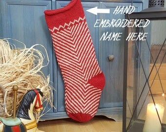 Fair Trade Knit Christmas Stockings, fair-trade Knit Stockings, Knit X-mas Stockings, Handmade Christmas Stocking, knit xmas Stockings