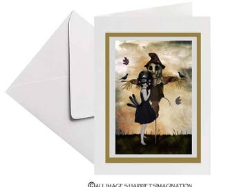 Scarecrow Greeting Card - Art Greeting Card - Card & Envelope - Weird Romance  - Unrequited Love