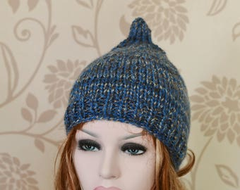 Pixie Hat, Womens Knit Hat, Uk Hat, Chunky Knit, Beanie, Accessory,