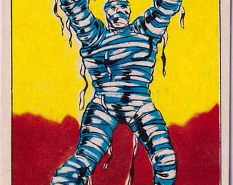 Rare 1980 Marvel Super Heroes The Mummy 218 Sticker
