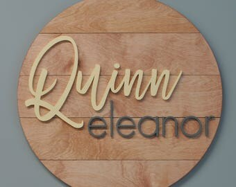 Nursery Name Sign, Baby Decor, Personalized Sign, Wood Name Sign, 3D Style, Shiplap, Kids Name Plaque, Room Wall Hanging