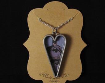 Batman Metal Heart Necklace