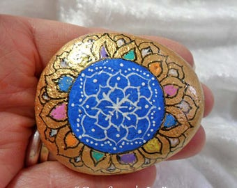Comfort & Joy: Hand-Painted Mandala Meditation Stone
