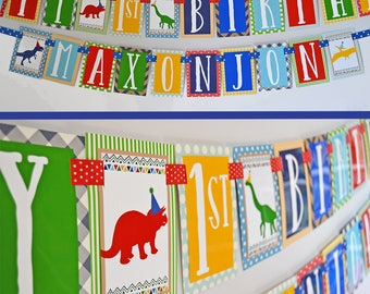 Dinosaur Birthday Party Banner Decorations Fully Assembled | Dino Birthday Party | Dinosaurs Theme Party | Boy Dino Party | First Birthday |