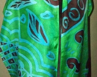 Zentangle Blue/Green/Rust