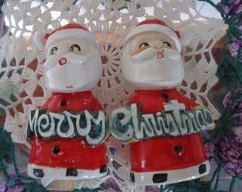 Vintage Santa Claus Salt & Pepper Shakers  JAPAN Large