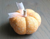Orange Floral Pumpkin Pincushion Floral Pumpkin Pin Keep