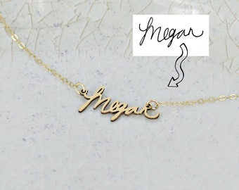 Signature Name Necklace • Single Name Necklace • Actual Handwriting Necklace • Personalized Name Necklace • Bridal Jewelry