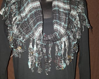 Fringed Inifinty Scarf