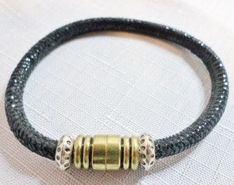 Black Suede Leather Bracelet