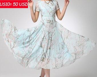 sale, floral dress, maxi dress, prom dress, womens dresses, chiffon dress, fit and flare dress, party dress, custom made, gift ideas  (1245)