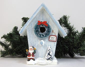 Christmas North Pole Rental Mini Birdhouse