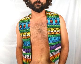 Vintage 80s Embroidered Guatemalan Hippie Vest