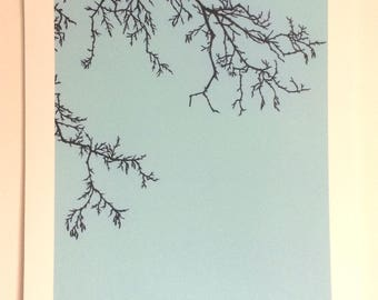 Winter Tree - Print from original papercut A3