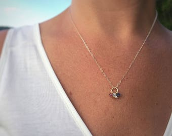 Birthstone Necklace, Grandmother Necklace, Birthstone Grandmother Necklace, Nana Necklace, Grandchildren Necklace, Gold Grandma Necklace