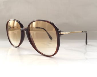 80s Vintage Charmant Small Tortoise Brown Sunglasses Small Head Size