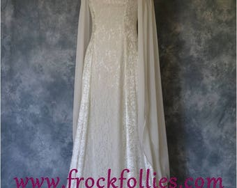 Robe Medievale, Medieval Dress, Elvish Wedding Dress, Hand fasting Dress, Elvish Gown, Renaissance Gown, Medieval Gown,Bernice