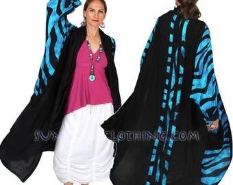 SunHeart Goddess BATIk HEROINE Coat RESORTWEAR Brilliant boho Hippie Chic Shaman one size Sml Med Large xl 1x 2x 3X 4X 5X 6X 7X