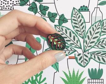 Maranta Leaf Enamel Pin