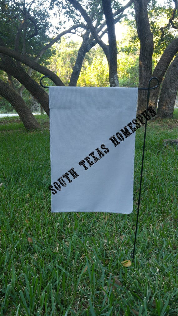 Gray Canvas Garden Flag Blank And Ready To Decorate Single