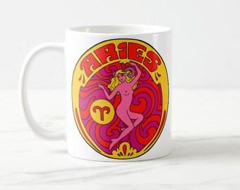 Aries Birthday Gift... Aries... Zodiac Gift... Aries Gift... Astrology Gift... Co Worker Gift... Coworker Gift... Birthday Mug