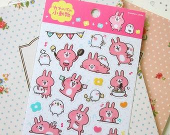 01 Kanahei Rabbit and Chick cartoon scrapbooking stickers