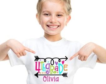 Adorable Personalized Back to School Shirt  - Pre-K, Kindergarten, 1st Grade, 2nd Grade, 3rd Grade, 4th Grade, 5th Grade, or 6th Grade